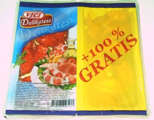 Vici przysmak surimi o smaku szczypców krabowych w oleju 200g+ 200g gratis, 400 g