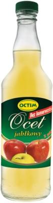 Octim Ocet jabłkowy z polskich jabłek, bez konserwantów 6% kwasowości, 500 ml