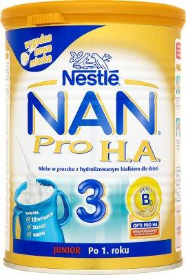 Nestle NAN 3 HA Pro mleko następne w proszku dla niemowląt , po 12. miesiącu, 400 g