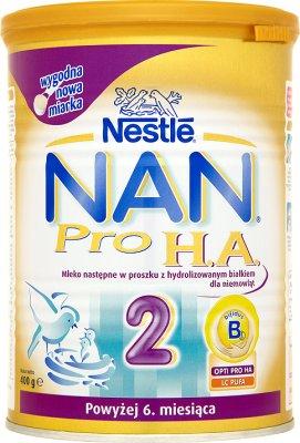 Nestle NAN 2 Pro HA mleko następne w proszku dla niemowląt , po 6. miesiącu, 400 g