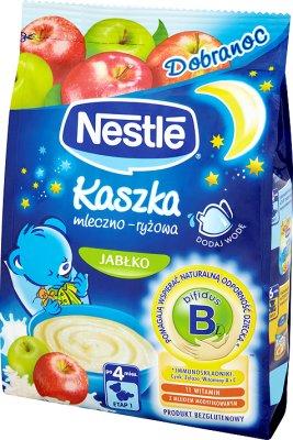 Nestle na dobranoc kaszka mleczno-ryżowa, bifidus jabłko, po 4. miesiącu, 230 g