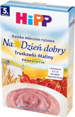HiPP Na Dzień dobry Kaszka mleczno-ryżowa Truskawki-Maliny po 5. miesiącu 250 g