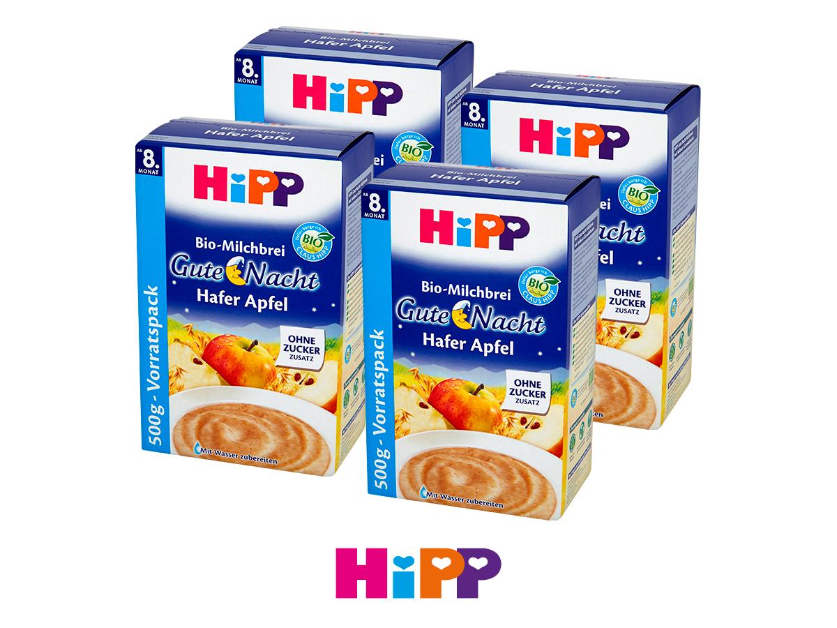 Hipp kaszka mleczna Na Dobranoc bez dodatku cukru BIO Owsianka z jabłkami
