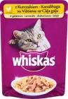 Erwachsenen - Fleischstücke in einer schmackhaften Soße für erwachsene Katzen - Beutel Huhn und Leber