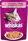 Erwachsenen - Fleischstücke in einer schmackhaften Soße, Futter für ausgewachsene Katzen mit Lachs und Forelle