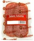 pork salami sliced
