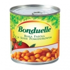 White canned beans in tomato sauce