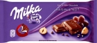 chocolat avec des noix et des raisins secs