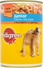 junior food for puppies , box of chicken in a delicate jelly