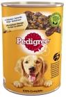 Futter für ausgewachsene Hunde, eine Dose mit Huhn und Karotten in einem zarten Gelee