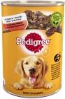 Futter für ausgewachsene Hunde, eine Dose Rindfleisch in einem zarten Gelee