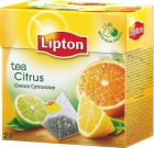 black tea 20 bags of flavored citrus fruit pyramid