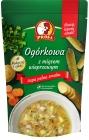 sopa de pepino con carne de pavo
