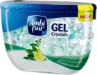 gel air freshener crystals in the form of balls of gel scent of eucalyptus and lime