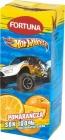 Hot Wheels 100% Saft in einem Karton mit einem Strohhalm Orange