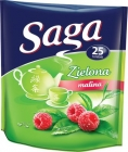 saga green express tea bags with raspberry