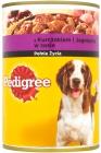 Родословная с курицей и бараниной в соусе, полноценный корм для взрослых собак