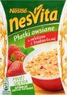 nesvita oatmeal with milk and strawberries