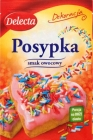 Decorative sprinkles with fruit flavour