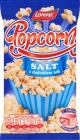 for the preparation of popcorn in a microwave oven with addition of salt
