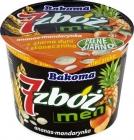 7 céréales hommes ananas - mandarine yaourt avec des graines de tournesol et citrouille