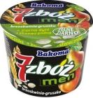 7 men cereal yogurt peach - pear
