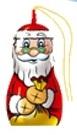 Árbol Figaro Navidad Santa Claus figurilla de chocolate con leche
