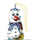 Arbre de Noël Figaro figurine de bonhomme de neige de chocolat au lait