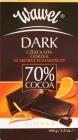 chocolat amer foncé avec 70 % de cacao zeste d'orange