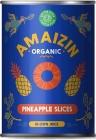 Amaizin ananas w plastrach BIO