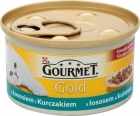 Gourmet Gold Chunks in gravy with salmon and chicken Complete food for adult cats
