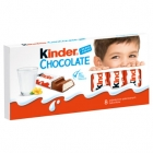 Kinder Chocolate bars of milk chocolate with a milky filling