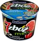 7 men cereal yogurt cranberry - red grapefruit + pumpkin seeds and sunflower