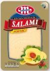 Mlekovita Salami Käse in Scheiben