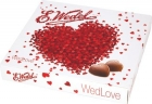 e wedlove milk chocolates , pralines heart filled with double-layer