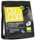 raw cashew nuts in chocolate coffee 70 % bio