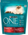 Purina One Sterilcat Complete food for adult cats rich in beef and wheat