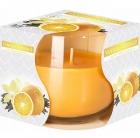 vela perfumada Bispol en vidrio Vainilla-Orange