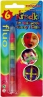 Titanum crayons to paint faces and bodies 6 colors Fluo