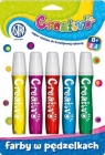 Astra paint pędzelkach great set of 5 colors for creative fun