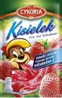 Pudding mit Fruchtstücken sofort mit dem Geschmack von Erdbeere