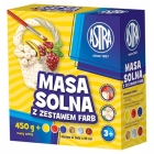 Astra mass of salt 450g + 6 colors 3 colors poster paints 3 metallic paint colors