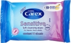 Carex hypoallergenic wipes with natural antibacterial ingredients