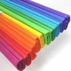 Ok Bureau plissé papier de soie 50 cm x 200 cm bleu