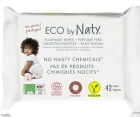 Naty toilet wipes enriched with aloe vera extract and rumiaku 100% ECO