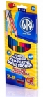 Astra Coloured pencils sided triangular pieces 12/24 colors with sharpener
