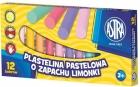Astra Plasticine pastel parfumé chaux 12 couleurs