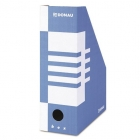 Donau container for documents, cardboard, A4 / 100mm blue