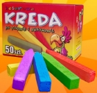 Colored chalk for writing and drawing małopyląca 50 pieces