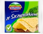 Hochland processed cheese slices with chives